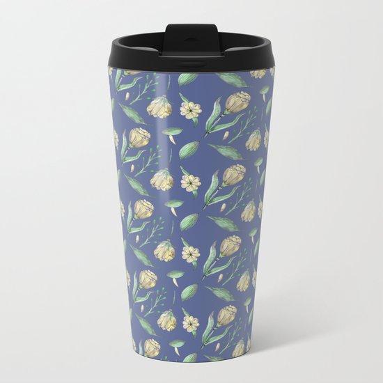 FLOWERS WATERCOLOR 3 Metal Travel Mug