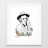harry styles Framed Art Prints featuring Harry Styles by Mariam Tronchoni