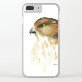 juvenile red-tailed hawk Clear iPhone Case