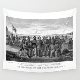 The Generals Of The Confederate Army Wall Tapestry