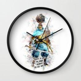 Death is like the Wind Wall Clock