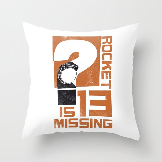 Rocket 13 Is Missing Throw Pillow