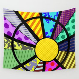 SUNRISE - RETRO, GEOMETRIC, FUN DESIGN Wall Tapestry