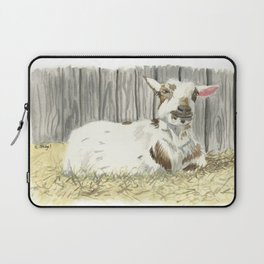 Goat in the Sunshine - Watercolor Laptop Sleeve