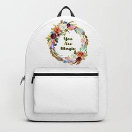 You Are Magic - A Beautiful Wreath Backpack