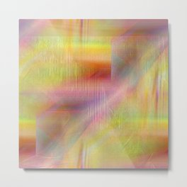 Abstract texture Rainbow colors Metal Print