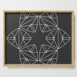 Minimal Hexa-pattern Serving Tray