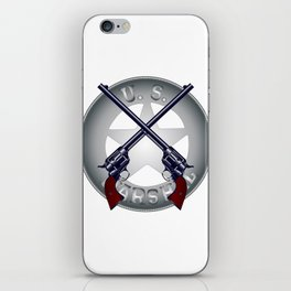 US Marshal Guns and Badge iPhone Skin