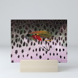 Salmon Fly & Salmon Skin Mini Art Print