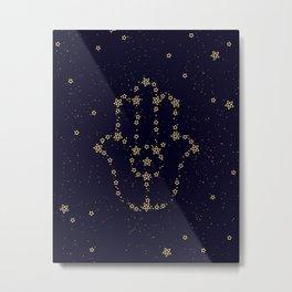 Hamsa Constellation Metal Print