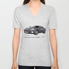 Aston Martin Vanquish V12 from Die Another Day Unisex V-Neck