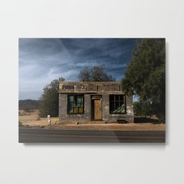 Abandoned Post Office in Kelso California Metal Print