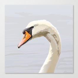 Elegance: Swan Canvas Print