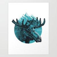 alaska Art Prints featuring Alaska by Krikoui
