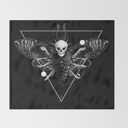 God Moth Throw Blanket