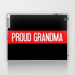 Firefighter: Proud Grandma (Thin Red Line) Laptop & iPad Skin