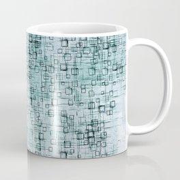 Falling Blue Squares Coffee Mug