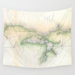 Vintage Map of San Francisco California (1865) Wall Tapestry
