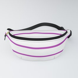 Horizontal Lines (Purple & White Pattern) Fanny Pack