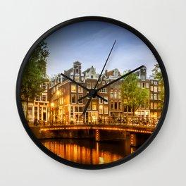 AMSTERDAM Idyllic impression from Singel Wall Clock