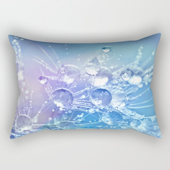 Diamond Dew Flowers (Periwinkle Lavender) Rectangular Pillow