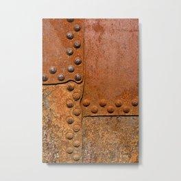 Rusty metal wall surface Metal Print