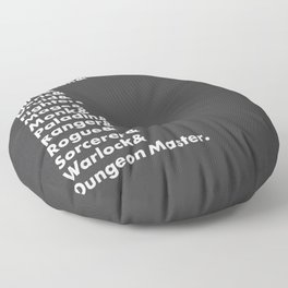 Dungeons and Dragons - Classes Floor Pillow
