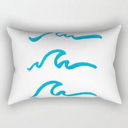 Three Waves Rectangular Pillow