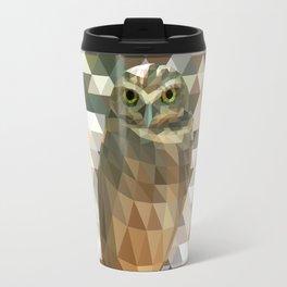 Burrowing Owl - Low Poly Technique Travel Mug