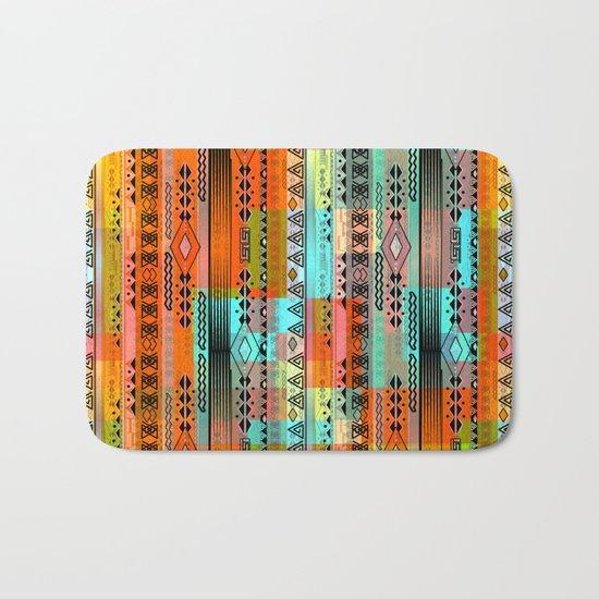 Abstraction. The rainbow pattern. 1 Bath Mat
