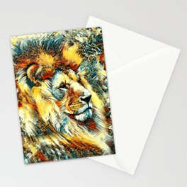 AnimalArt_Lion_20171001_by_JAMColorsSpecial Stationery Cards