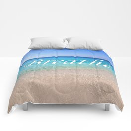 Breathe Cayman Relaxing Beach Waves Comforters