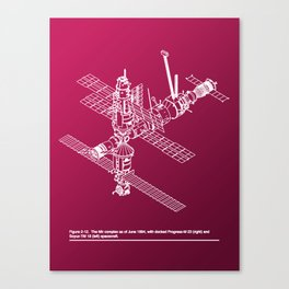 Space Station Mir Canvas Print