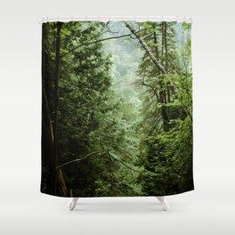 Deep Green Forest Shower Curtain