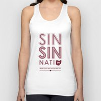 cincinnati Tank Tops featuring Locals Only — Sinsinnati, OH by Tom Davie