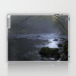 Fog on the Mckenzie River Laptop & iPad Skin