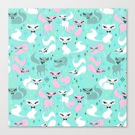 Swanky Kittens Canvas Print