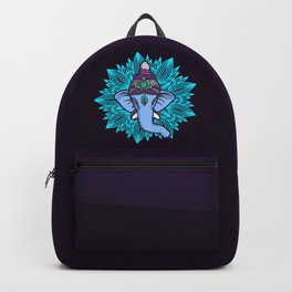 Wise Elephant Ganesha Mandala Backpack
