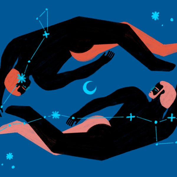 illustration of men with constellations