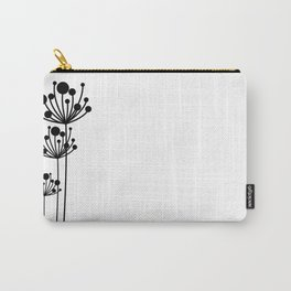 Minimal Floral Carry-All Pouch