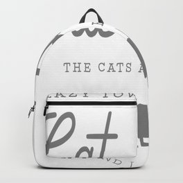 Crazy Town Cat Lady Backpack