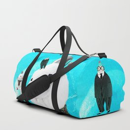 Time Rabbit and Halloween Snowman Duffle Bag