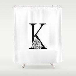 K letter Shower Curtain
