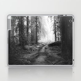 Magical Washington Rainforest Black and White Laptop & iPad Skin