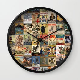 WWI Posters Wall Clock