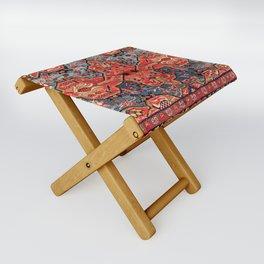 Kashan Poshti Central Persian Rug Print Folding Stool