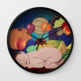 A Child Of Plenty Wall Clock