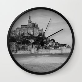 Mont St Micheal Seaside Castle Wall Clock