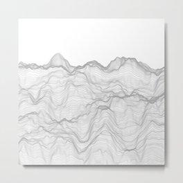 Soft Peaks Metal Print
