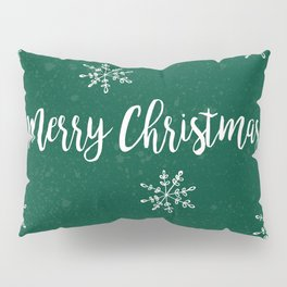 Merry Christmas Green Pillow Sham